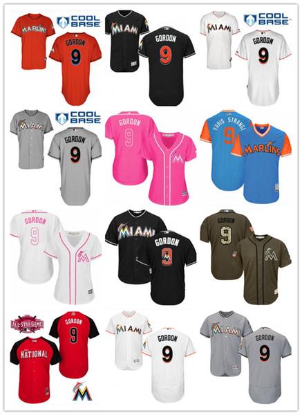 official photos 002c8 54528 2019 2019 Top Marlins Jerseys #9 Dee Gordon Jerseys Men#WOMEN#YOUTH#Men'S  Baseball Jersey Majestic Stitched Professional Sportswear From ...