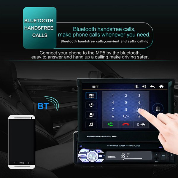 2019 Double 2 Din 7inch HD Touchscreen In Dash Car Stereo Radio MP5/MP3  Player FM Card Type Full Function Remote Control Practical From  Sanjiaomeiflo,