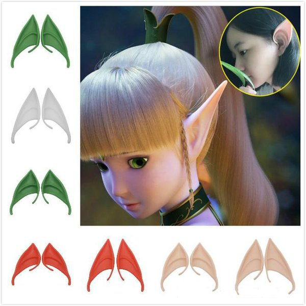 Halloween Fluorescent Ear Fairy Cosplay Accessories Vampire Party Mask For Latex Soft False Ear 10cm And 12cm