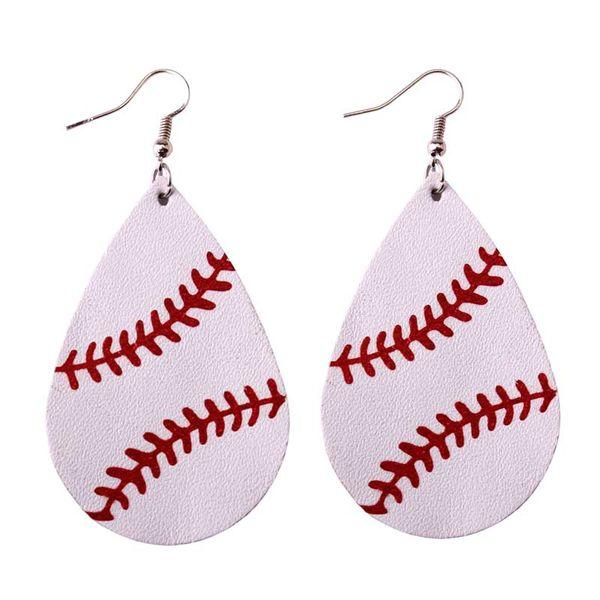 dd2c0d9c4d 2019 ZWPON 2018 Personalized Baseball Leather Earrings Women Sports Neon  Green Softball Earrings Teardrop Earrings Fashion Jewelry From Pingwang1,  ...