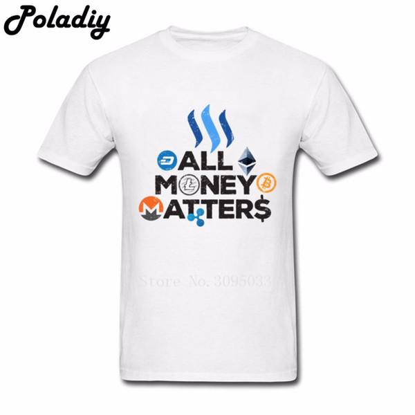 Mens T Shirts Homme Tout ce qui concerne l'argent à vendre T-shirt Biction Crewneck Tshirs à manches courtes Drôle vrais madrids 3xl