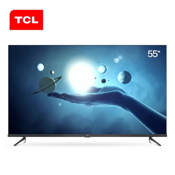 Orijinal TCL 55T6 yeni 55-inch tam sahne AI yapay zeka TV 4 K + tam ekolojik HDR 2G + 16 GB LCD düz panel TV DHL Ücretsiz Kargo