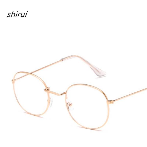 Alloy Glasses Frame Men/Women Myopia Eye Glass Prescription Eyeglasses 2019 New frame glasses Optical Frames for men Gold