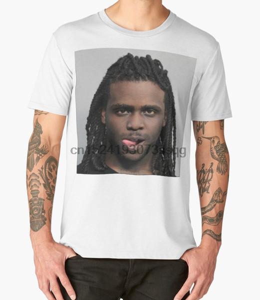 Homens impressos Camiseta de Algodão O-pescoço tshirts Chefe Keef Mugshot Manga Curta-T-Shirt Curto Casual homens camiseta
