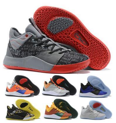 Pg3 Pg 3 Mens Basketball Shoes Sneakers Grey Paul George Nasa 3s Mamba Mentality BHM Cheap 2019 Des Chaussures Designer Trainers Shoes