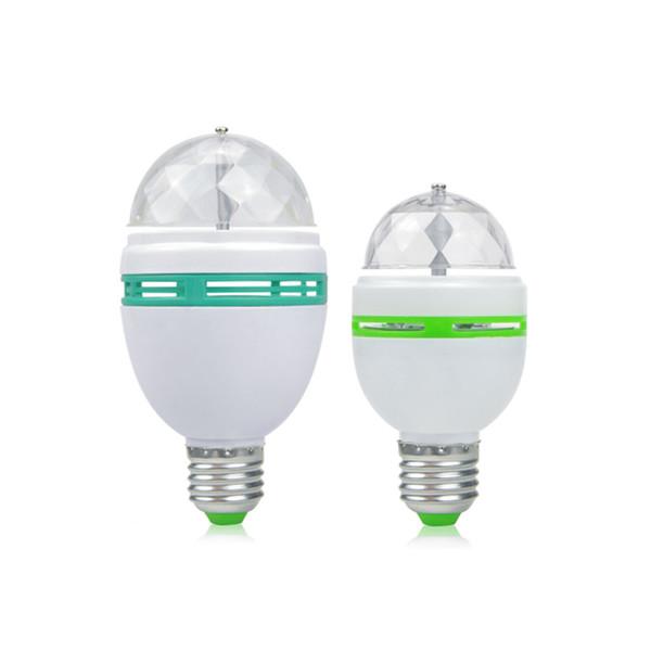Boule magique RVB polychrome 3W 6W E27 LED Ampoule Cristal Rotation Automatique Effet Scène DJ Ampoule Mini Laser Stade Lumière Partie Lampe Disco Lumière
