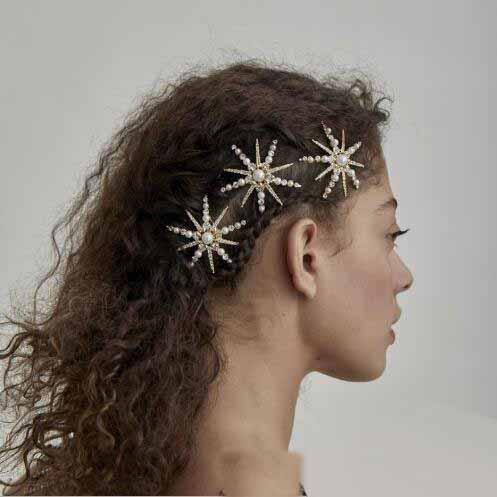 Clips Clips de las mujeres de las horquillas de pelo de la perla del Rhinestone de horquillas laterales Barrettes Headwear Hairgrip Herramientas Accesorios de Moda joyería del tocado de nuevo