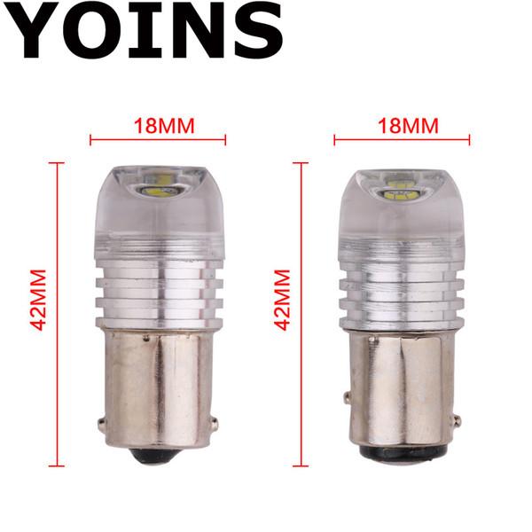 2 adet / grup Led Yüksek Güç strobe 1156 1157 5630 3SMD LED Ampuller Yedek Işıkları sıcak satış içbükey lens BEYAZ DC12V