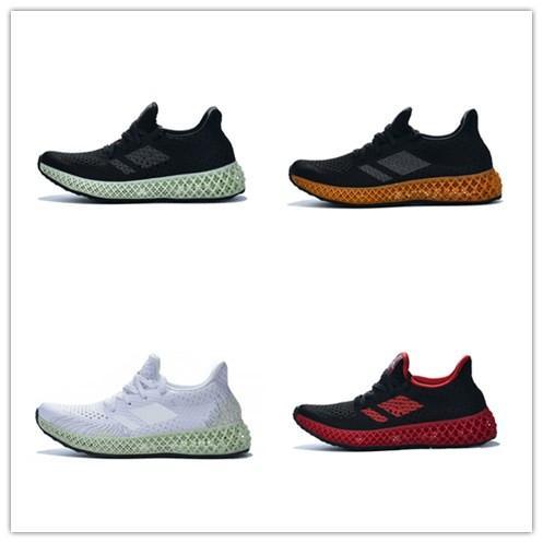 (Kutu ile) 2019 Futurecraft Erkekler Kadınlar Için 4D Koşu Ayakkabıları Kül Yeşil Üçlü Siyah Beyaz Kırmızı Erkek Tasarımcı Trainer Spor Sneaker Boyutu 38-47