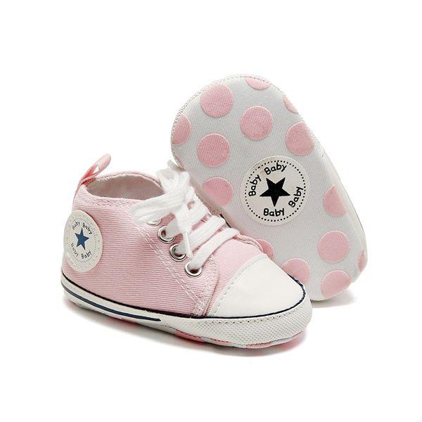 Renkli Bebek İlk Yürüyenler Ayakkabı Tuval Ayakkabı Bebek Casual Dantel-UP Spor Katı İlkbahar Ve Sonbahar Bebek Ayakkabı Sneakers
