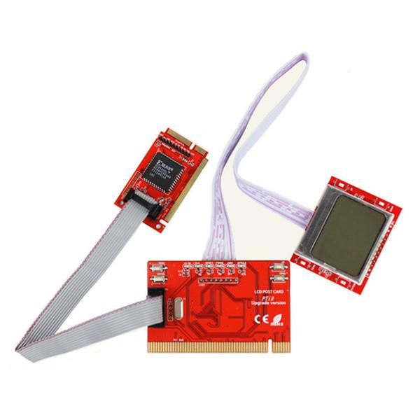Factory Price! New PC Mini PCI-E PCI LPC Diagnostic Post Card PC Analyzer Tester LCD post card pti8 pc tester