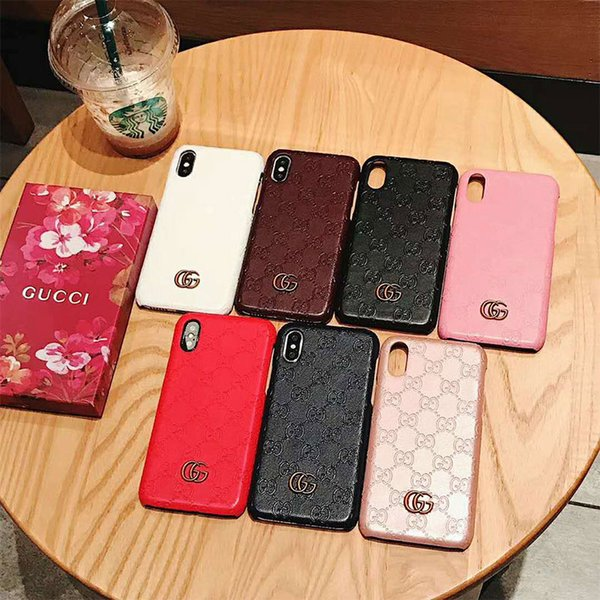 With Box luxury designer phone cases for iphone 6 7 8 plus X PU leather Fashion Models Phone Back cover for samsung galaxy S8 9 10 NOTE 8 9