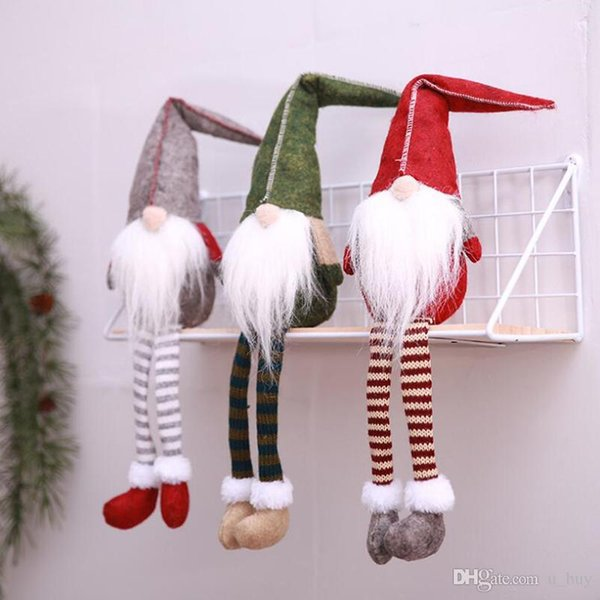 3 Models Cartoon No Face Long beard Santa Claus Doll Toys Party Christmas Decorations Free shipping