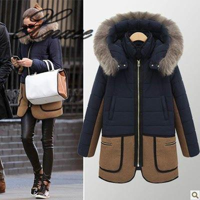 2019 new self-cultivation large size hooded padded cotton long-length women's fur collar cotton clothes