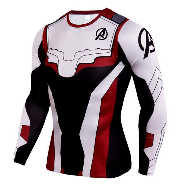 New Endgame Marvel T Shirt Dry Fit Men Running Shirts Long Sleeve Crossfit Rashgard 3D Sportswear Gym Training Shirt
