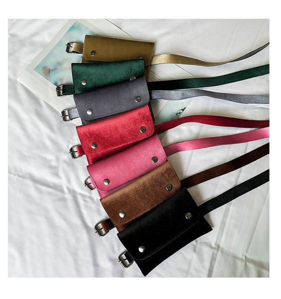 7styles Velvet Waist Packs belt pack Women Summer Velvet Hip Bum Belt Bag Candy Envelope mini fashion Fanny Pack FFA2000