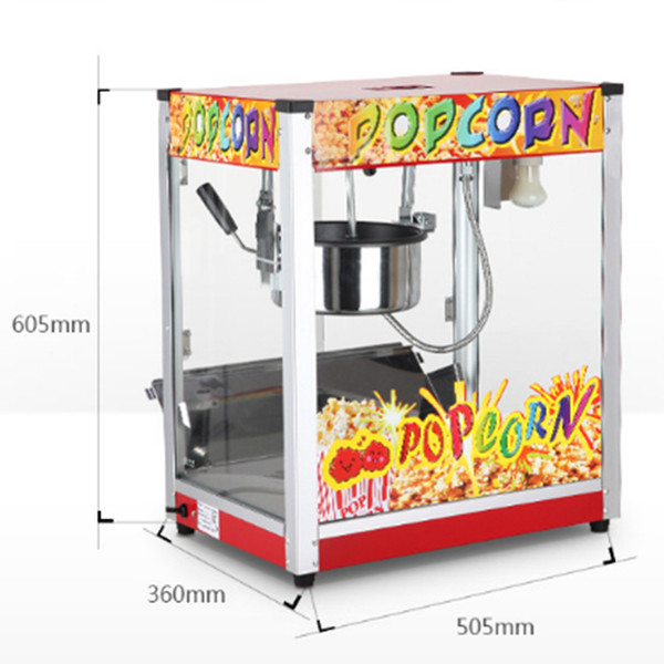 top popular Commercial Flat Top Corn Ball Popcorn Machine Maker Movie Theater KTV 1400w Durable, Safe and Efficient 2021