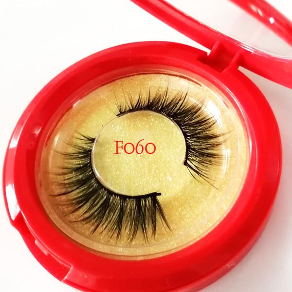 Natural Faux Silk Eyelash Extension Russian Volume 3D Individual Mink Eyelashes Makeup False Soft Lashes Fake Cilias 55