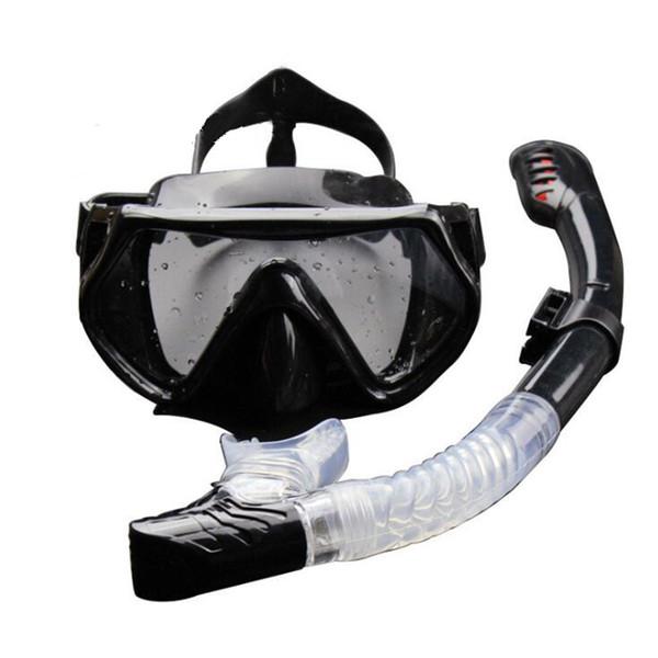 Maschera subacquea professionale subacquea subacquea Occhiali da snorkeling Snorkeling Set Full Dry Diving Mask Occhiali da nuoto per adulti