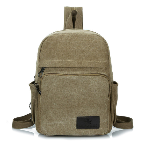 Women's Backpack Korean Style Canvas Backpack Men Small Double-sided Chest Bag Ladies Fashion Travel Backpack Pt1135