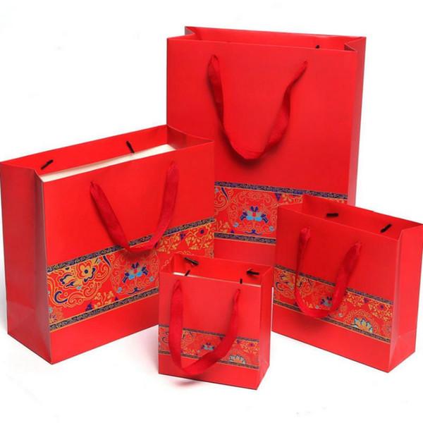 1 adet Yeni yüksek kalite Gizemli gri hediye kutusu sevgili Sevgililer Günü kağıt hediye Wrap çanta Çin tarzı düğün takı çantası Ambalaj