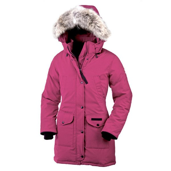 top popular 2019 Women Bomber Femme Outdoors Fur Down Jacket Hiver Thick Warm Windproof Goose Down Coat Thicken Fourrure Hooded Jacket Manteaus WD002 2019