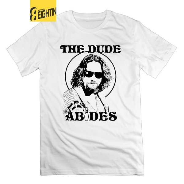 The Dude Abides The Big Lebowski T-Shirts Vintage Tees Short Sleeve T Shirt Mens Classic New 100% Cotton Round Collar
