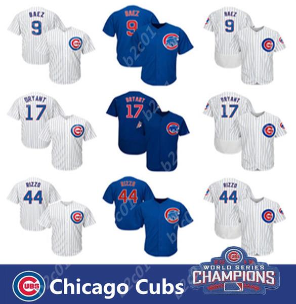 2019 Chicago Cubs Jersey für Herren 44 Anthony Rizzo 17 Kris Bryant 9 Javier Baez Baseball-Trikots