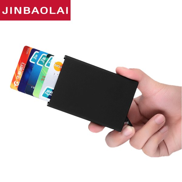 New Fashion Travel Card Wallet Automatic Pop Up ID Holder Men Women Business Card Case Stainless Steel Metal Clip