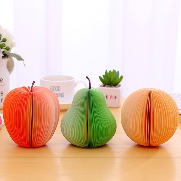 New Cute Fruit Memo Pads Sticky Notes Stickers Label Stick School Office Stationery Message Planner Writing