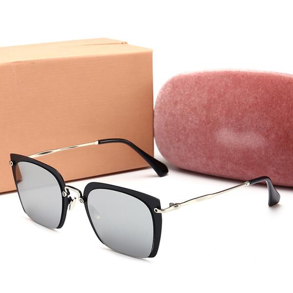 MIUMIU 5401 Mode Retro Vintage Punk Stile Männer Frauen Sonnenbrille sonnenbrille Flip Up Cyber Runde Brille Gläser