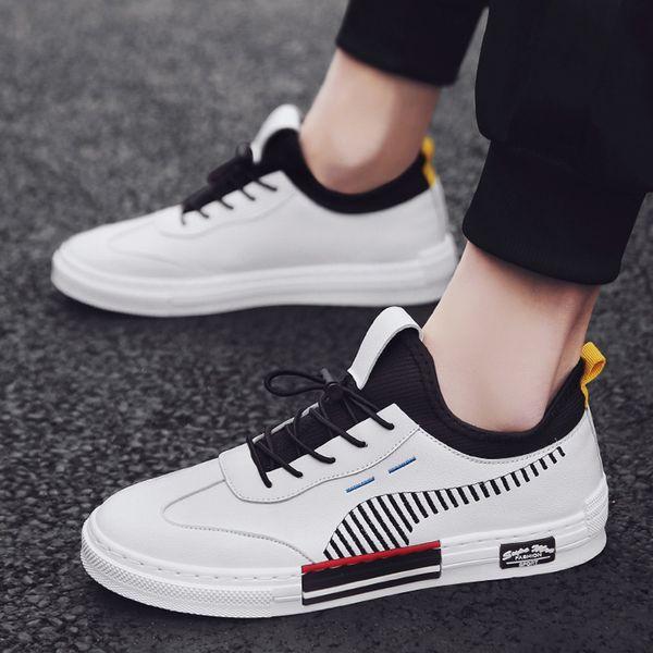 2019 мода горячая корейская версия новые удобные мужские туфли на шнуровке прочная мужская повседневная обувь мужской