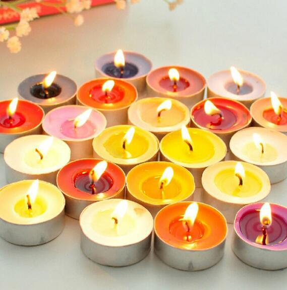 10pcs/box creative romantic candle rose package courtship birthday table white heart-shaped love small candle proposal