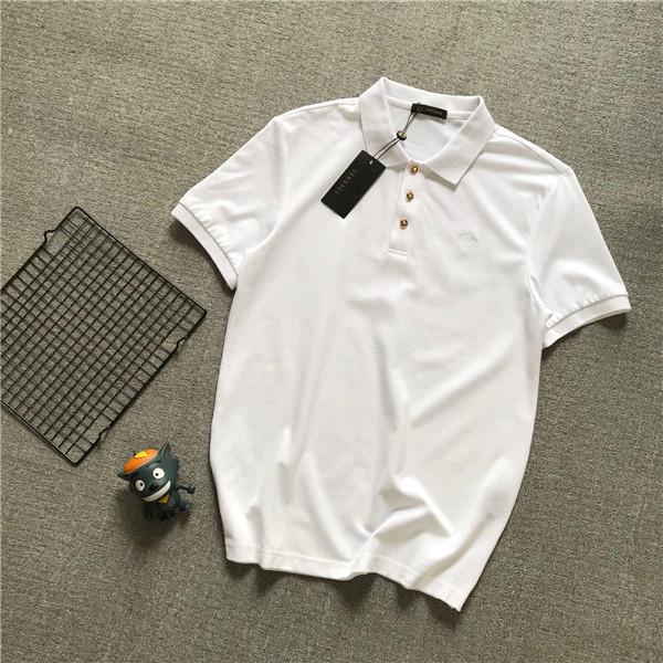 19ss Luxueux Marque Design Vers Chemises À Manches Courtes En Té Revers Respirant Hommes Femmes Vêtements De Mode En Plein Air Streetwear Polo chemises