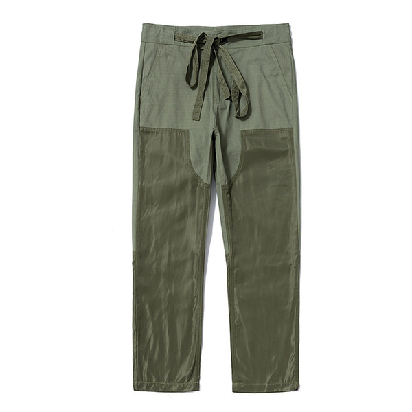 Fear of God high street street casual pants casual versatile tooling color matching stitching sports casual trousers