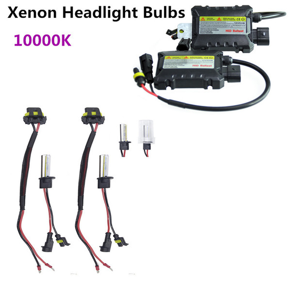 Vehicle Car Auto 10000K Universal For Car 2PCS/Set 55W H1 HID Xenon Headlight Bulbs Conversion KIT+ Ballasts
