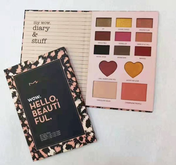In tock m eye hadow palette makeup 13color my wow diary tuff eye hadow palette dhl hipping