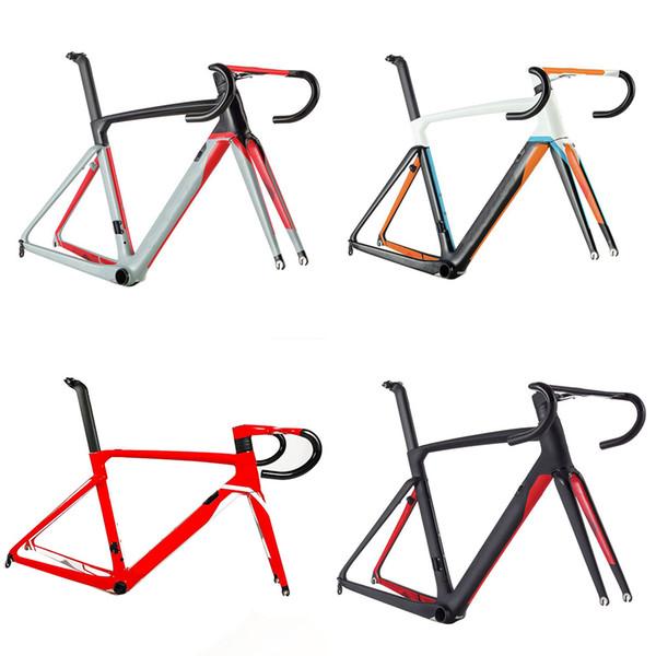 2019 Cento 10 estrada de ar de fibra de carbono bicicleta quadro de bicicleta quadro de bicicleta de estrada garfo braçadeira selim ALABARD Carbono guiador espaçador