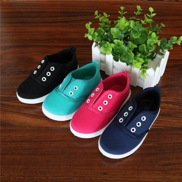Bahar Çocuk Tuval Ayakkabı Sneaker sToddler Erkekler Kızlar Branda Sneakers Çocuk Kız Flats Casual Slip Ayakkabı