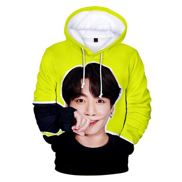 BTS 3D Digital Hoodies Hip Hop Women K-pop Fashion Hot Selling Boys Women Fans Sweatshirts