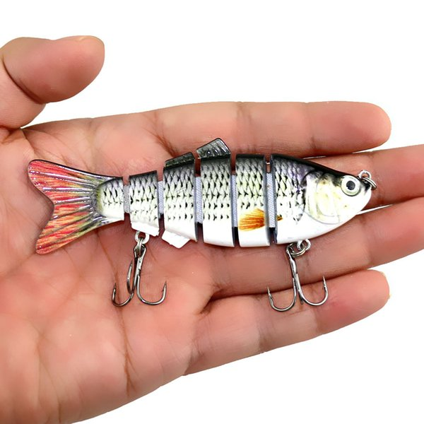 Fishing Wobbler Lifelike Fishing Lure 6 Segment Swimbait Crankbait Hard Bait 10cm 18g Artificial Lures Fishing Tackle LJJZ264