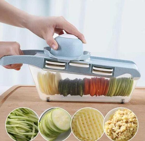 Soyucu Rende Sebze Kesici Araçları Ile 5 Bıçak Havuç Rende Soğan Sebze Dilimleme Mutfak Aksesuarları CFYZ64