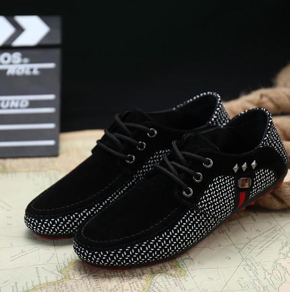 2019 Frühjahr und Herbst neue atmungsaktive Herren Bean Schuhe britischen Außenhandel Freizeitschuhe Mode Mode große Herrenschuhe EUR39