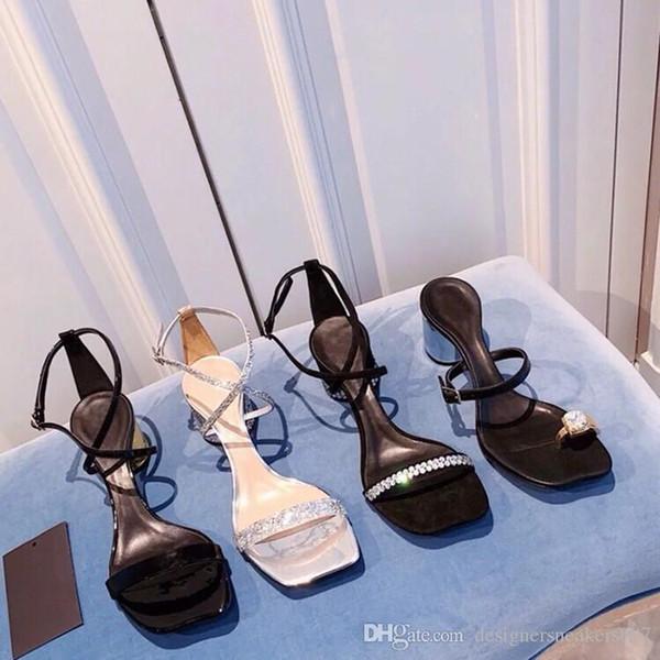 Mulheres Designer Bege Cinza Preto Dois Tons De Couro Camurça Slingback saltos Bombas sandália Mocassins Sandálias das mulheres dlm190708