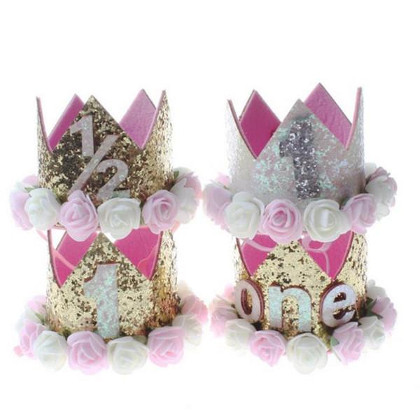 Acheter Bébé Fille Joyeux Anniversaire Fête Chapeaux Enfant Un Année Fleur Princesse Couronne Bandeau Bébé Douche 1er Anniversaire Décor Fête De 349