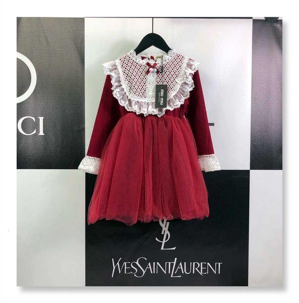 Kızlar Çocuk Tasarımcı Kostümler Yeni Parlak ve Parlak Kız Prenses Elbise Zarif Dantel Tasarım Gece Elbise Wear