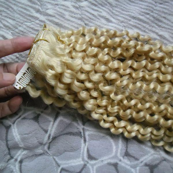 8 pcs Kinky Curly Weave Clipe Em Extensões Do Cabelo Humano 100g Grampo Em Extensões Do Cabelo brasileiro cabelo virgem