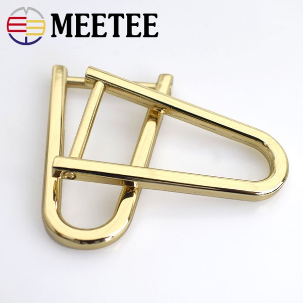 10pcs MEETEE 2CM removable screws D buckle Rings U-Shape Shallow gold buckle Shoes Garment bag hardware accessories F1-8