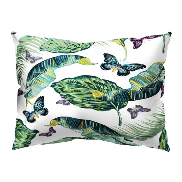 SOLEDI Throw Pillow Cover Flamingo Pattern Comfortable Tropical Style Pillow Cases Bedroom Hotel Home Textile