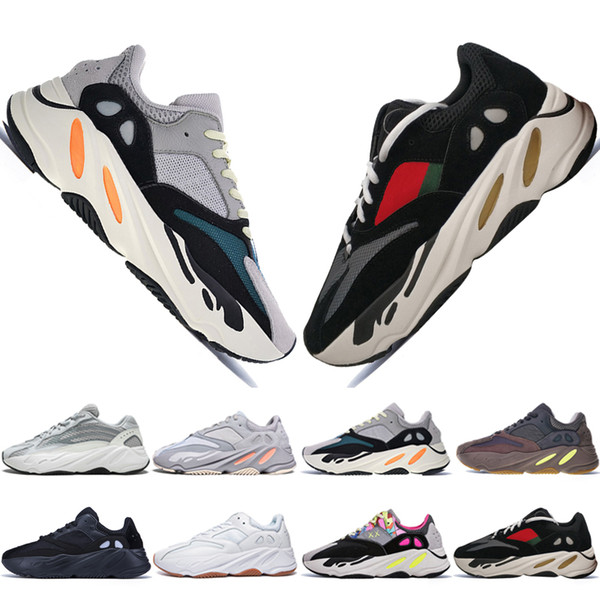 Горячий новый Kanye West 700 V2 Static 3M Mauve Inertia 700s Wave Runner Мужские кроссовки для мужчин Женск